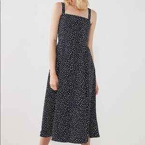 urban outfitters square neck midi printed dress